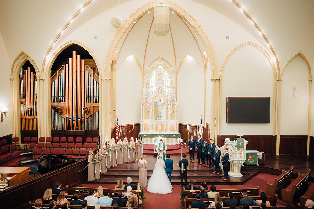 St. John's Lutheran Church of Orange Wedding Ceremony -- Wedding Blog - The Overwhelmed Bride