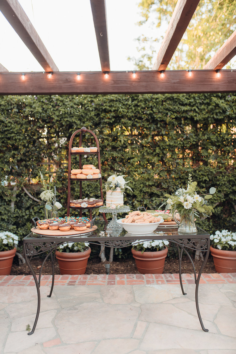 Wedding Dessert Bar - Southern California Backyard Wedding -- Orange, CA Wedding Photographer -- The Overwhelmed Bride