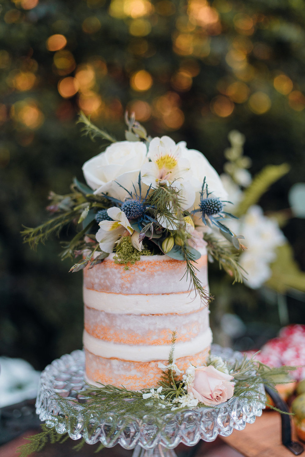 Naked Cake - Southern California Backyard Wedding -- Orange, CA Wedding Photographer -- The Overwhelmed Bride