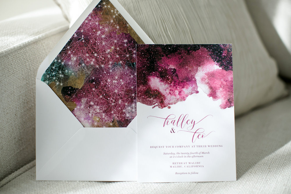 Celestial Wedding Details - Watercolor Acrylic Wedding Invitations - David's Bridal