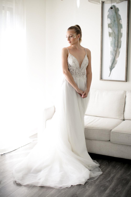 Jewel Tone Bridesmaid Dresses - Celestial Wedding Details - Watercolor Acrylic Wedding Invitations - David's Bridal