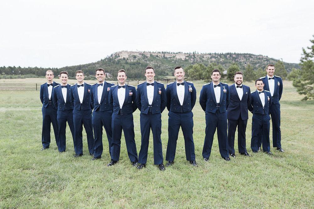 Neutral Wedding Colors - Air Force Chapel Wedding - Spruce Mountain Ranch Wedding