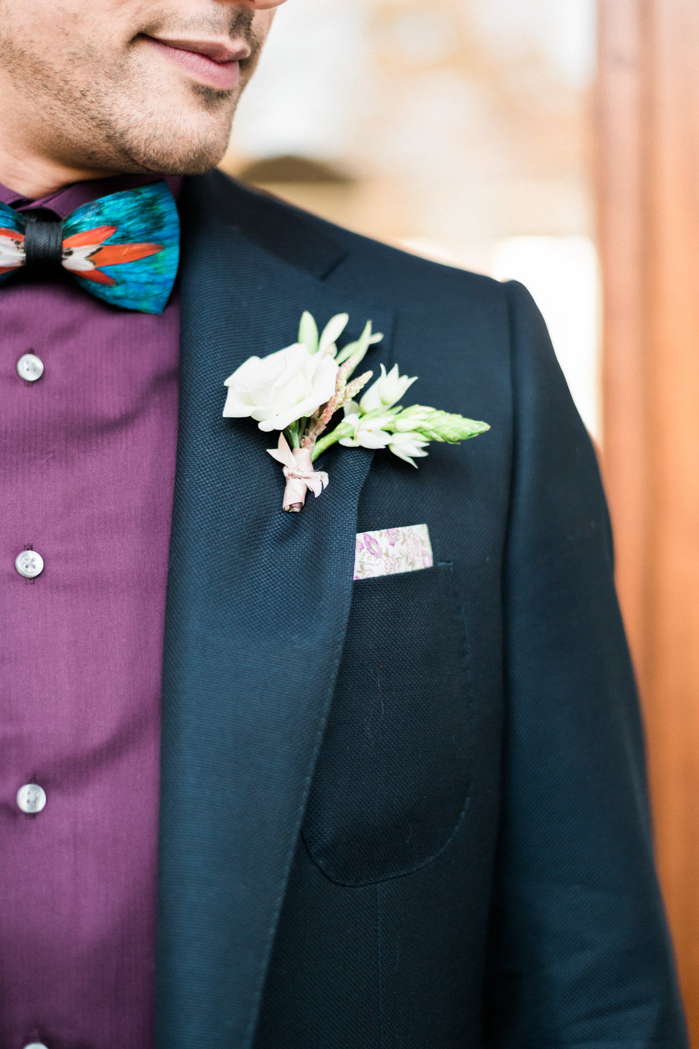 Pretty Boutonnieres - Pennsylvania Private Estate Wedding