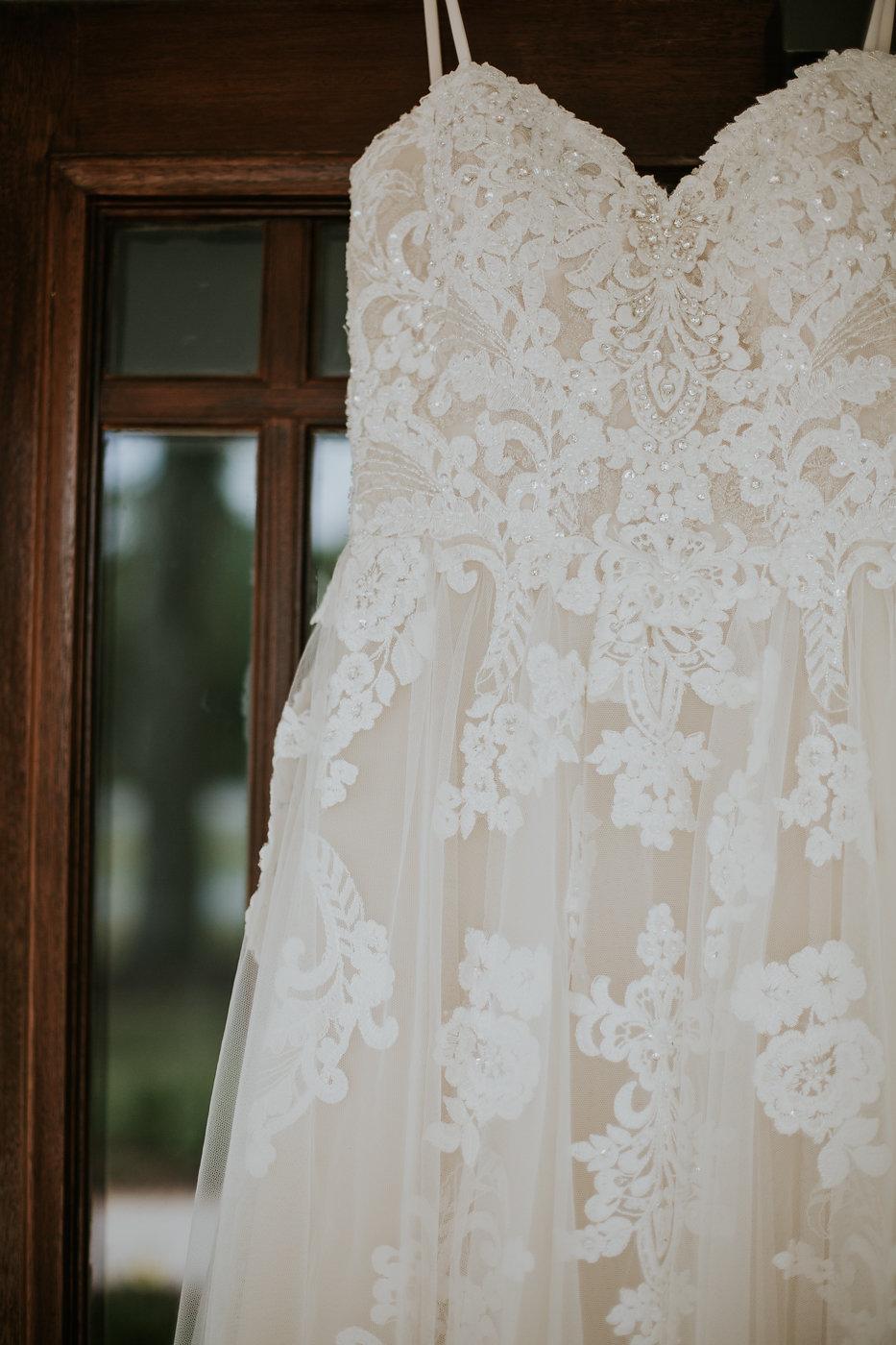 Beaded Embroidered Wedding Dress - North Carolina Wedding Venue - Triple J Manor House Wedding