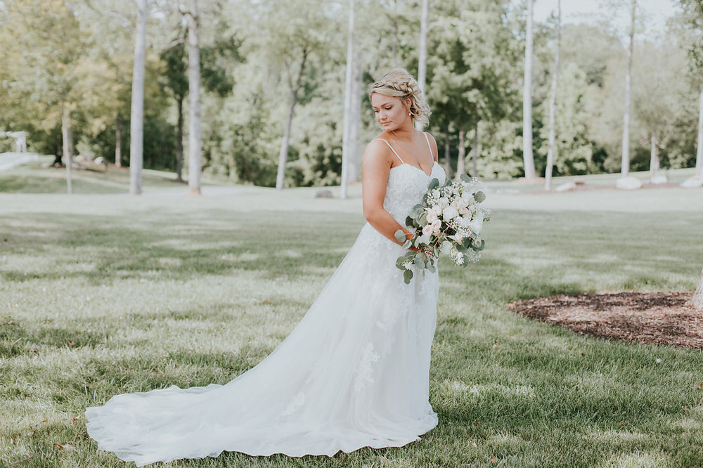 Gorgeous Spaghetti Strap Wedding Dresses - North Carolina Wedding Venue - Triple J Manor House Wedding