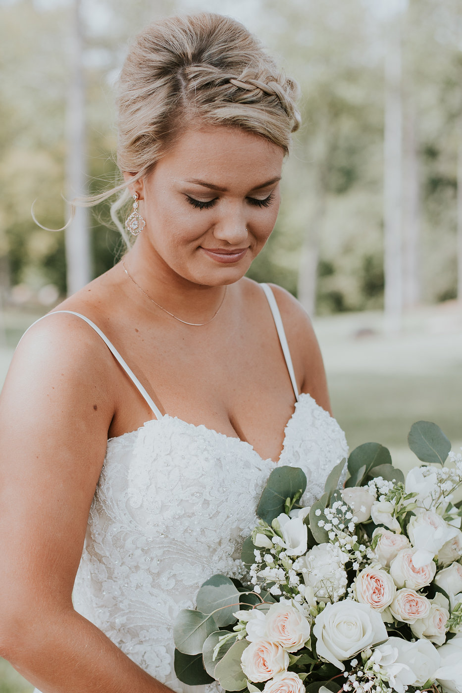 Gorgeous All White Wedding Bouquet - North Carolina Wedding Venue - Triple J Manor House Wedding