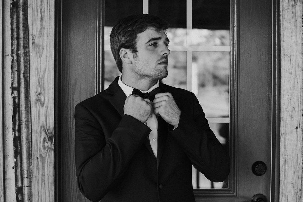 Groomsmen Wearing Suspenders - North Carolina Wedding Venue - Triple J Manor House Wedding