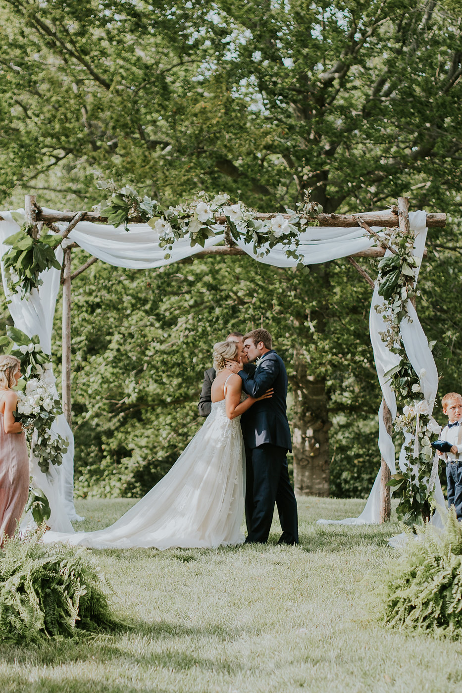 Gorgeous Wedding Arch - North Carolina Wedding Venue - Triple J Manor House Wedding
