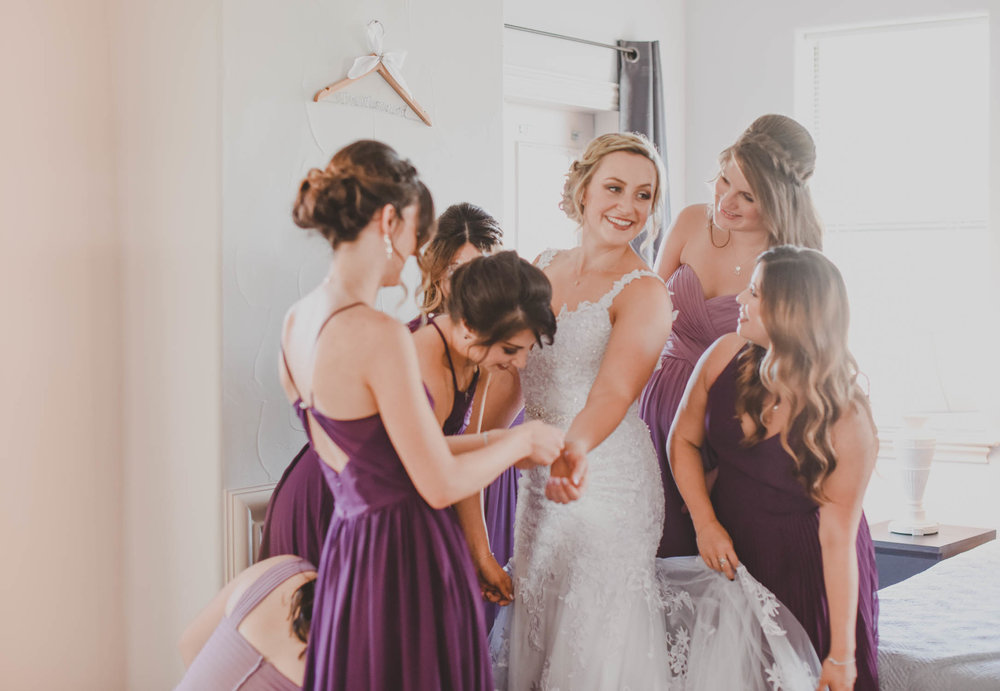 Purple Bridesmaid Dresses - Downtown Dallas Wedding Venue - El Fenix Wedding