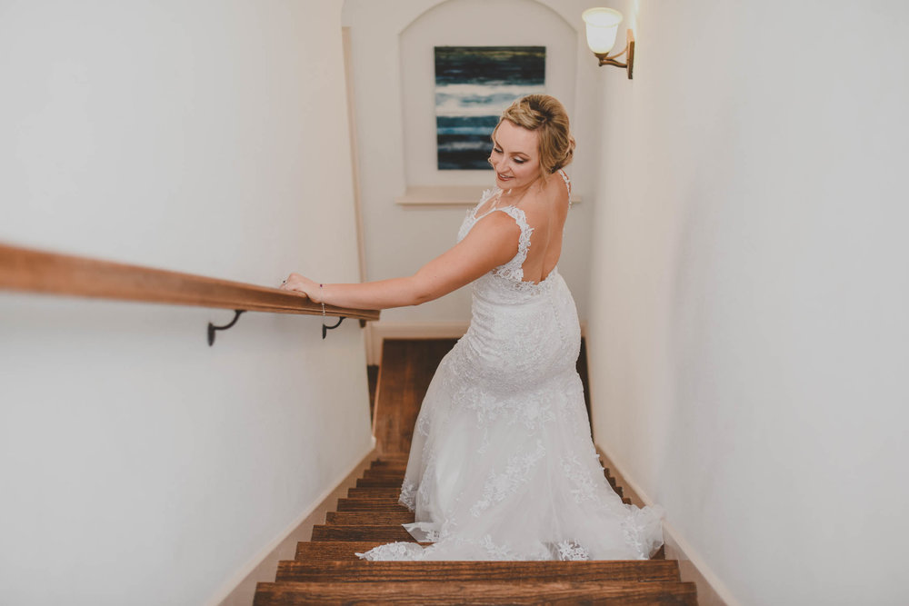 Low Back Mermaid Wedding Dress - Downtown Dallas Wedding Venue - El Fenix Wedding