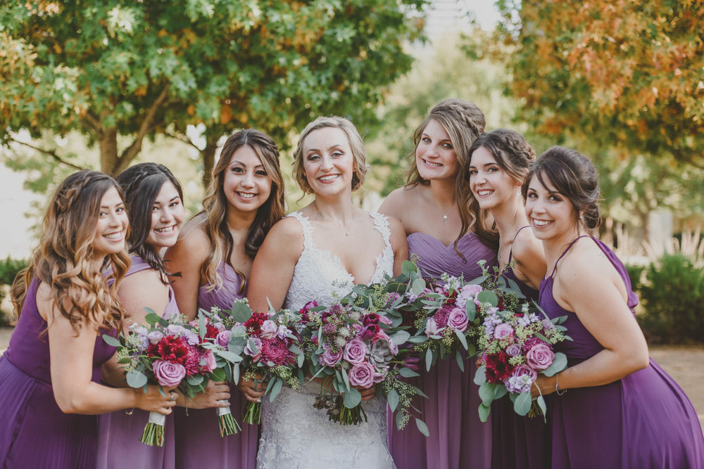 Purple Weddings Bouquets - Downtown Dallas Wedding Venue - El Fenix Wedding