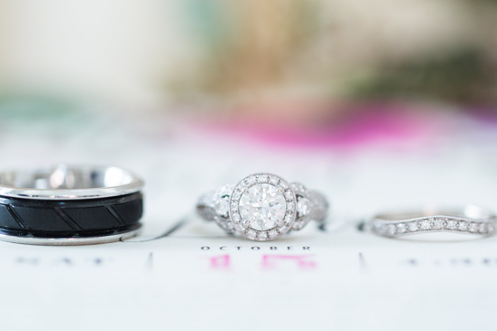 Round Halo Vintage Engagement Ring - Heritage House - Georgetown, Texas Wedding Venue