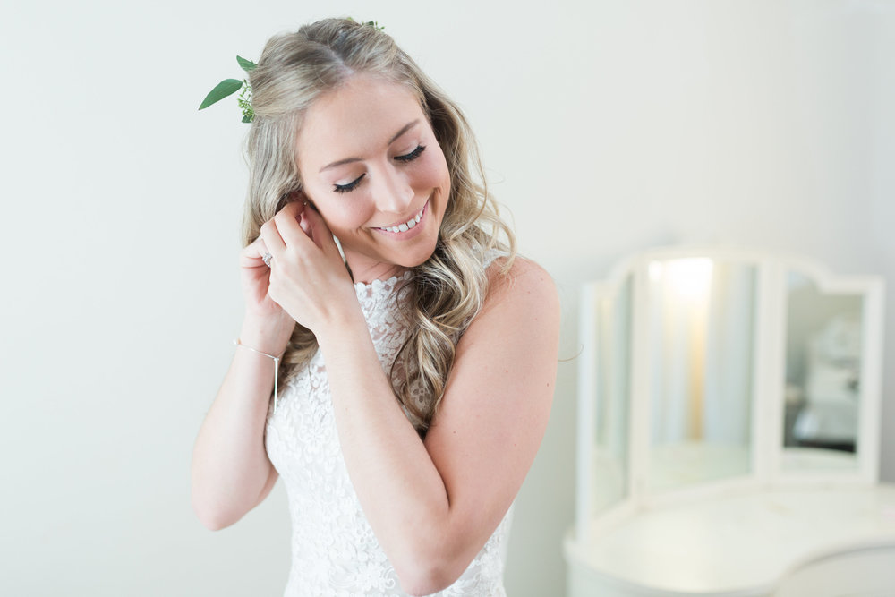 Bridal Hairstyle - Heritage House Wedding - Georgetown, Texas Wedding Venue