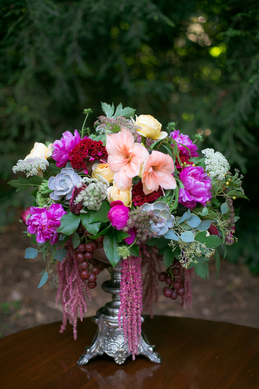 Large Colorful Wedding Centerpieces - Colchester, Connecticut Wedding Photographer