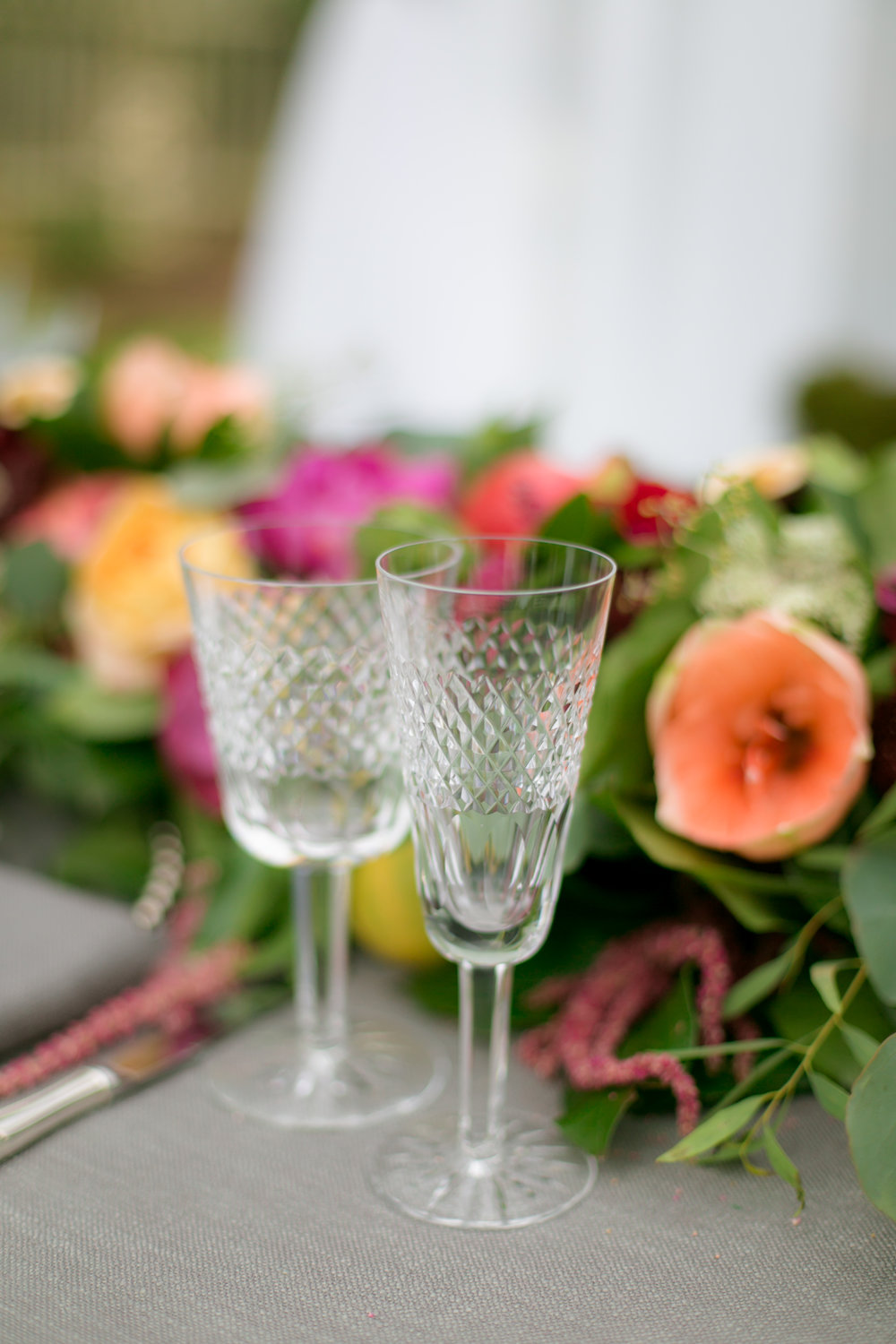 Clear Wedding Glassware-Stemware -  Colchester, Connecticut Wedding Photographer