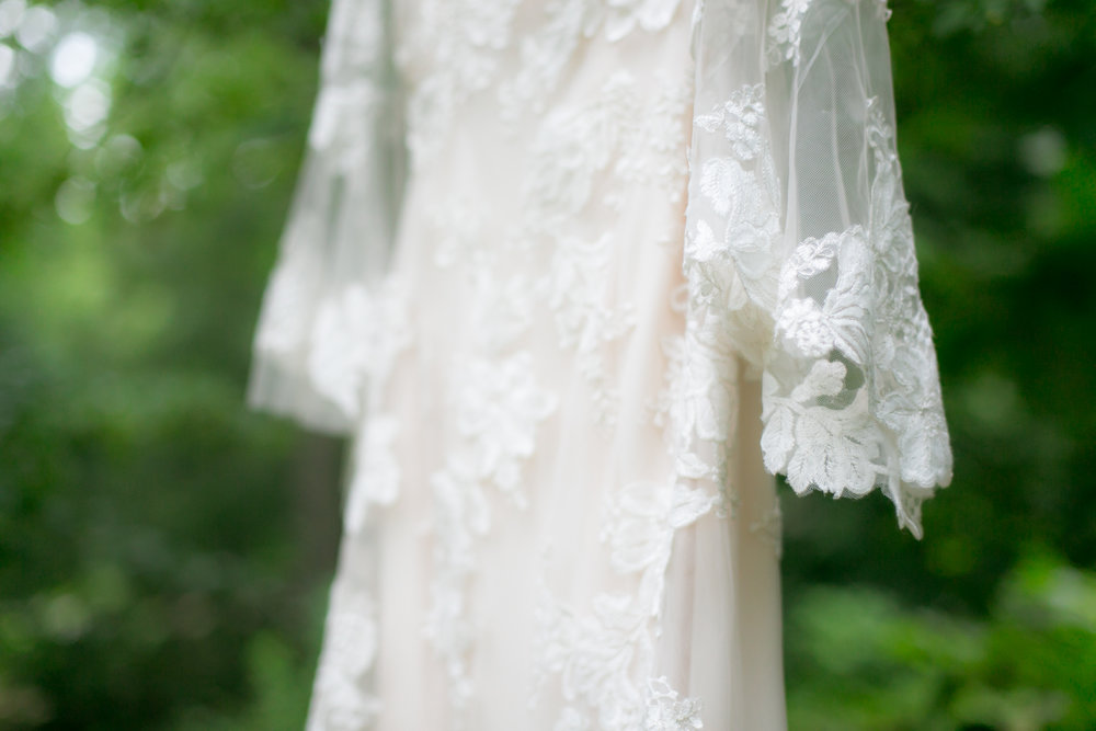 Lace Long Sleeve Boho Wedding Dress - Colchester, Connecticut Wedding Photographer