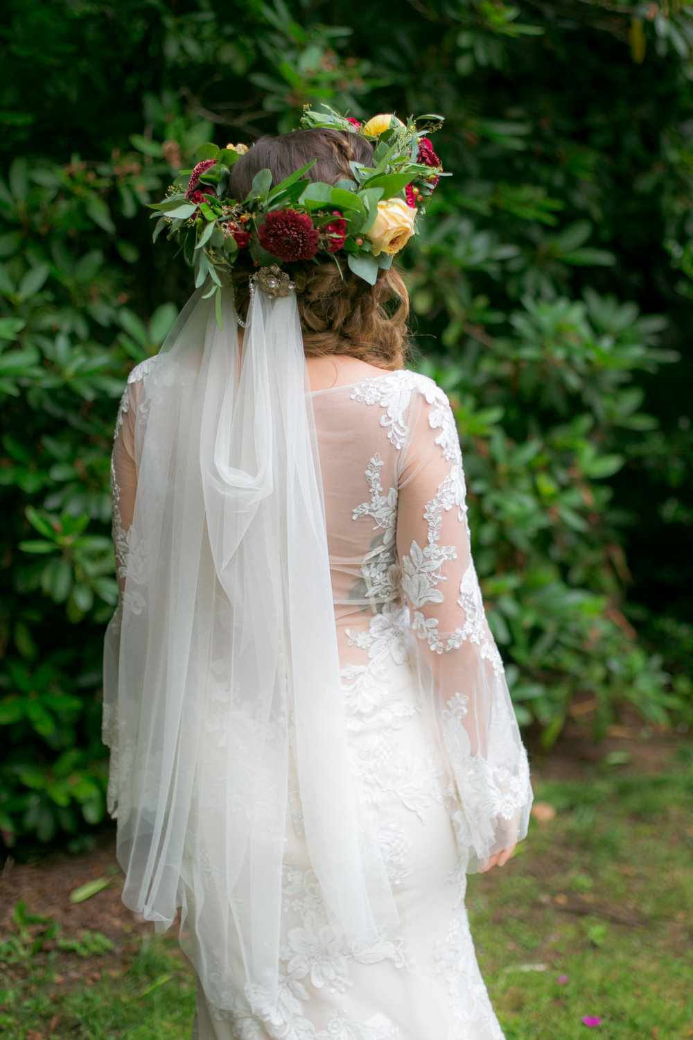 Flower Crown Wedding Veil - Colchester, Connecticut Wedding Photographer