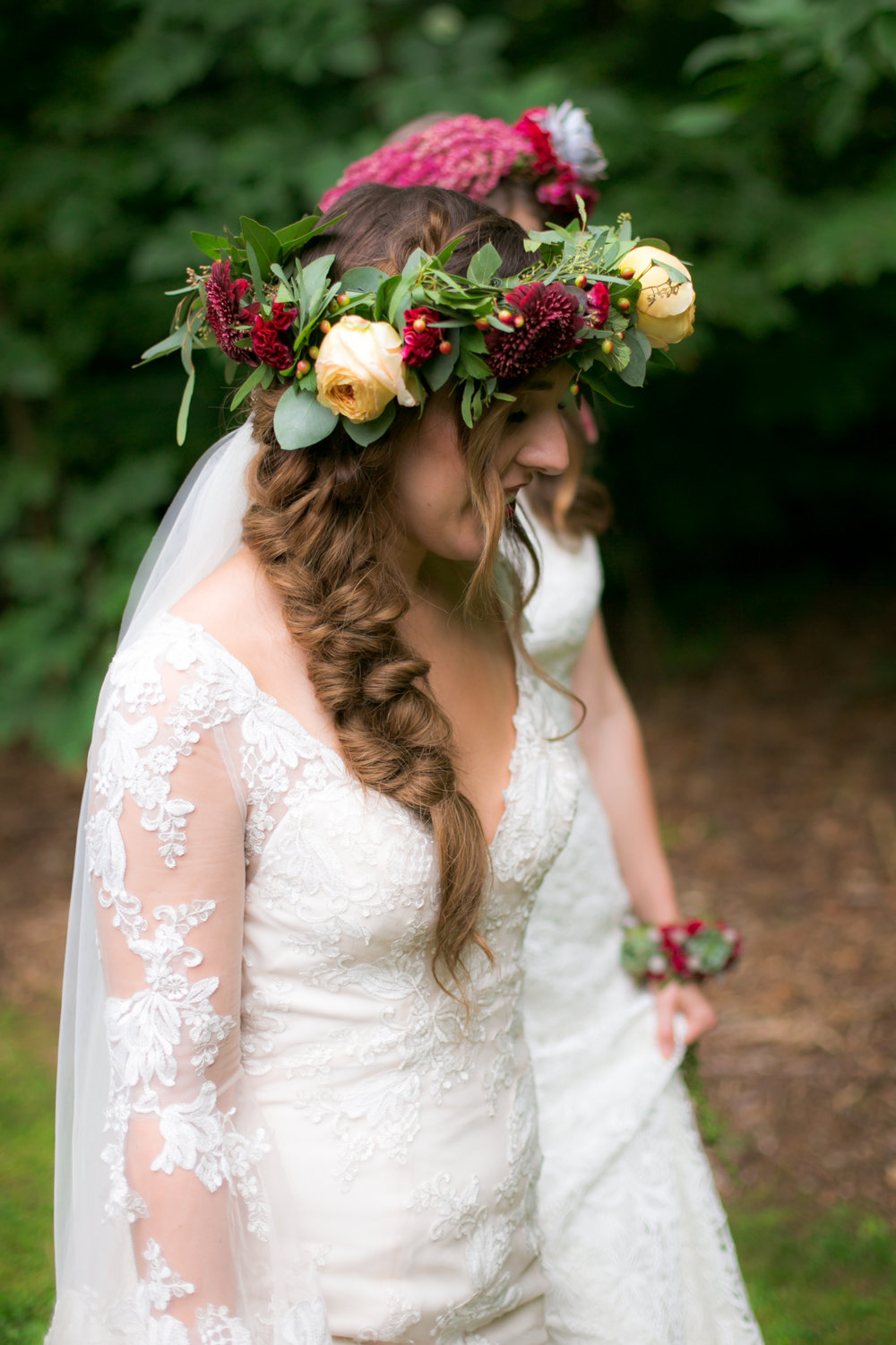 Braided Bridal Hairstyles - Colchester, Connecticut Wedding Photographer