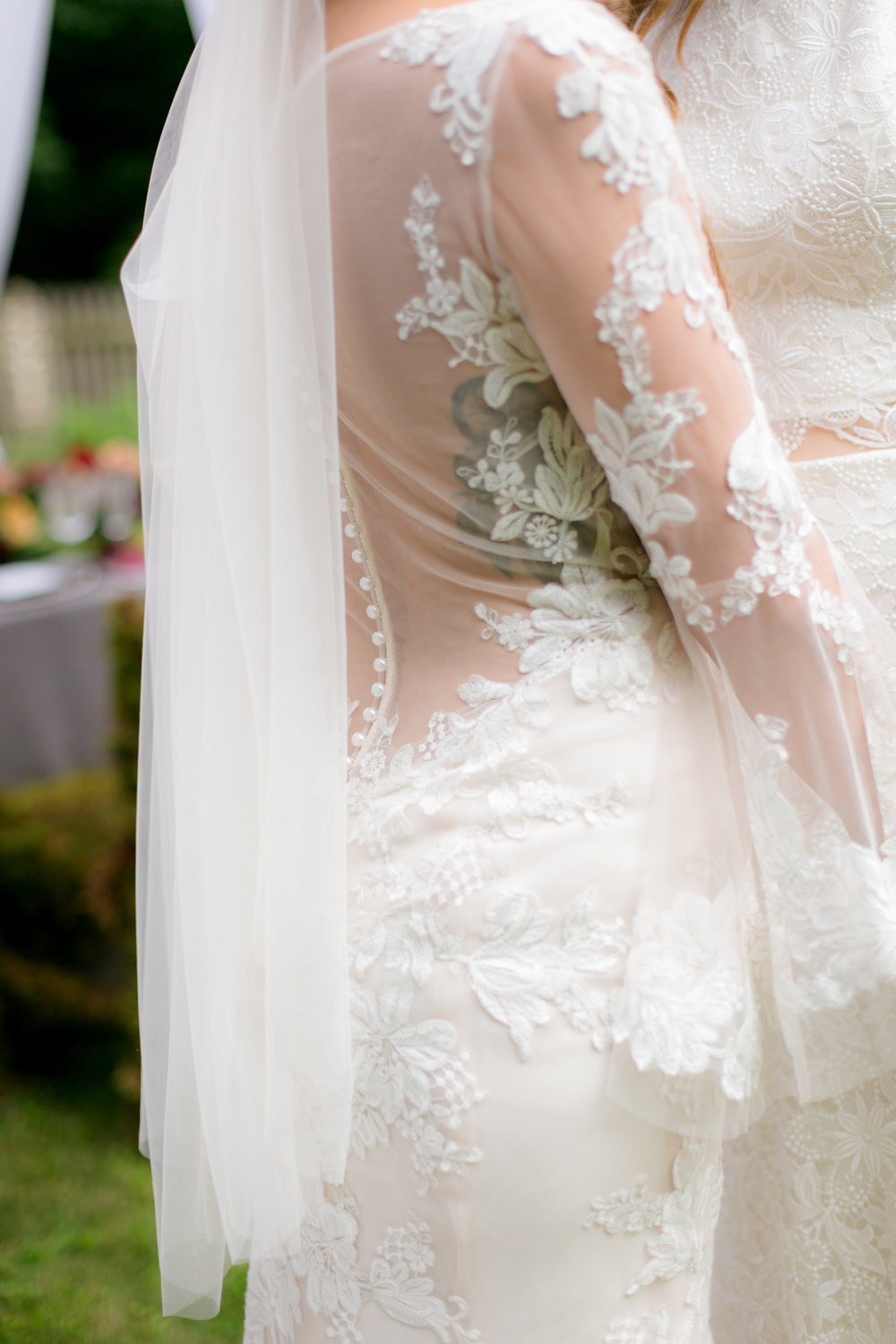 Lace Long Sleeve Wedding Dress - Colchester, Connecticut Wedding Photographer