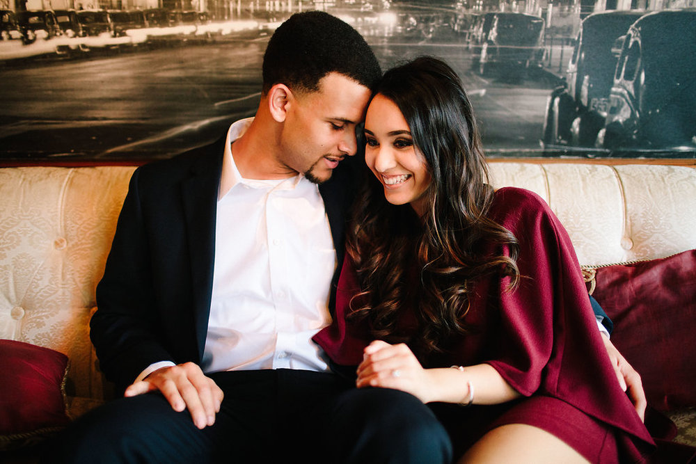 Downtown Houston Engagement Photos