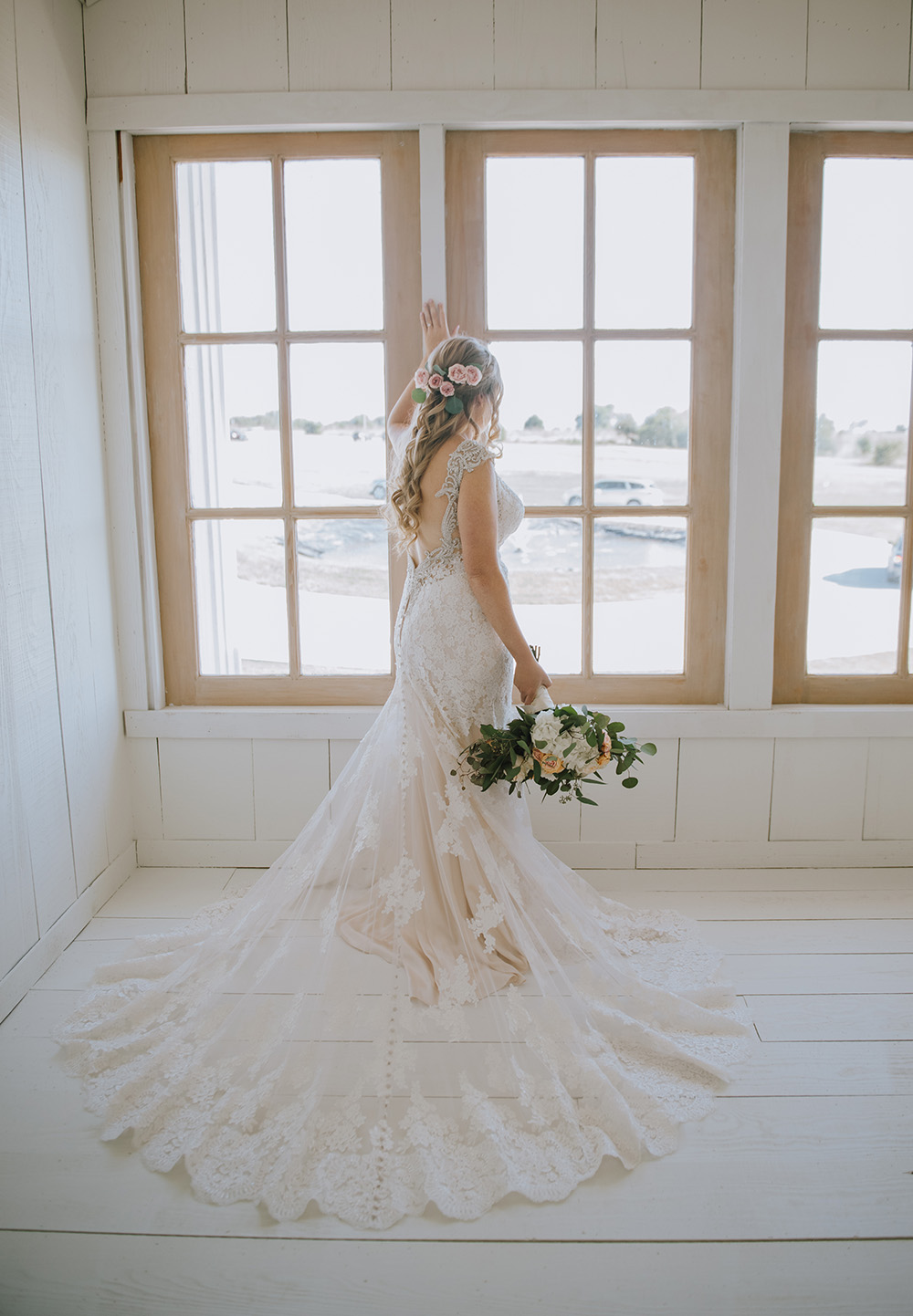 Gorgeous Lace Wedding Gown - The Grand Ivory Wedding - Leonard, Texas Wedding Venue