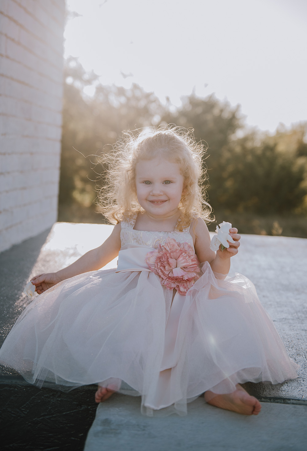 Flower Girl Dresses - The Grand Ivory Wedding - Leonard, Texas Wedding Venue