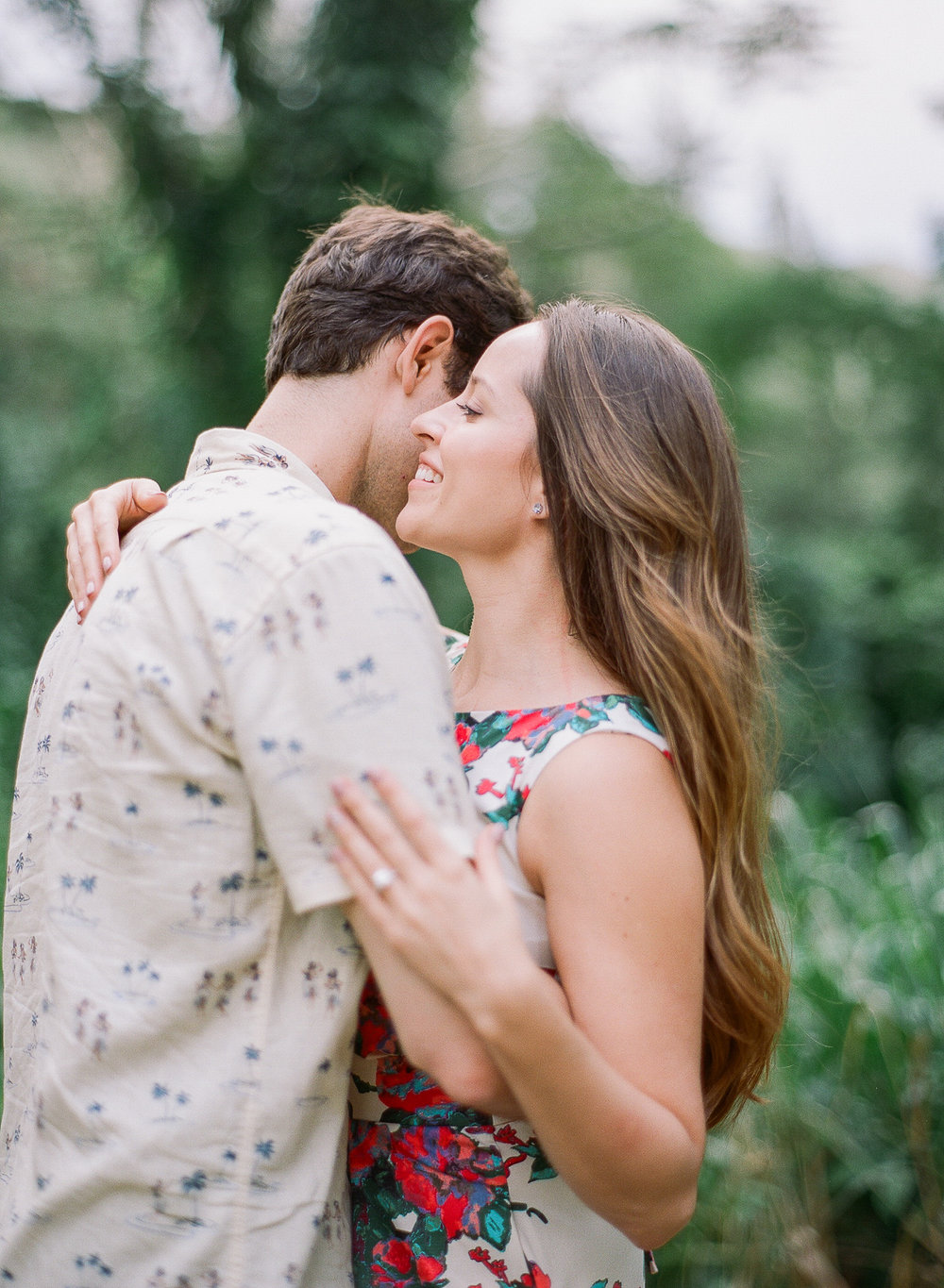 Manoa Falls Hawaii Engagement Photos