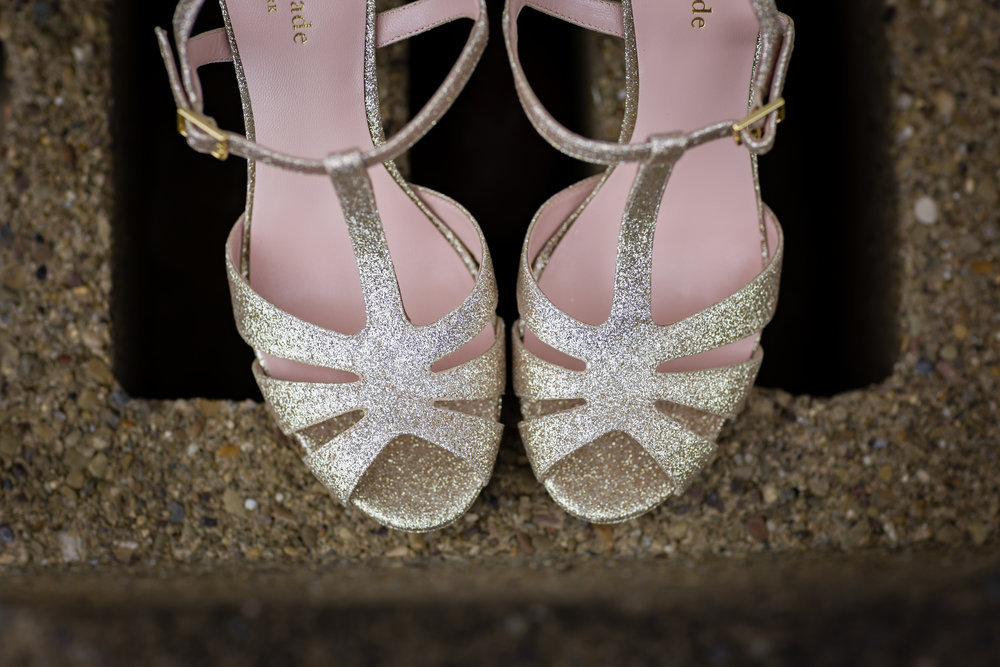 Gold Wedding Shoes - Pittsburgh Wedding Venue - Duquesne University Wedding