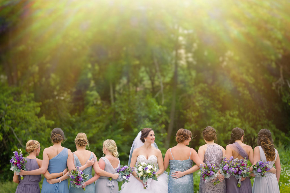 Blue Bridesmaid Dresses - Pittsburgh Wedding Venue - Duquesne University Wedding