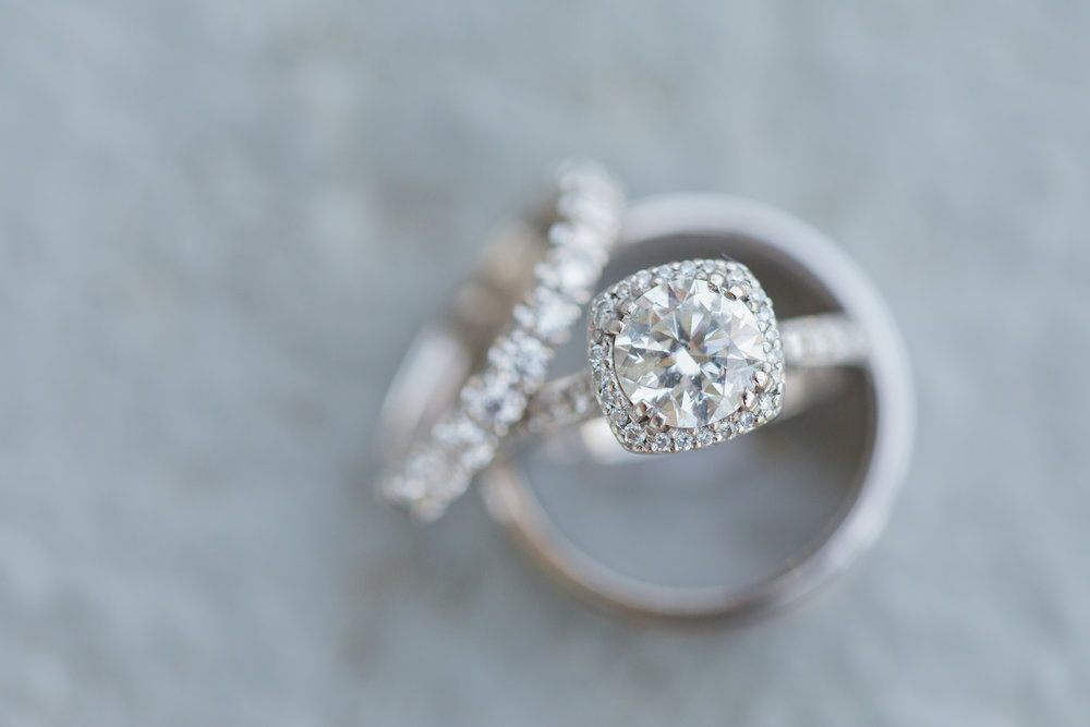 Round Cut Halo Engagement Ring - Pittsburgh Wedding Venue - Duquesne University Wedding