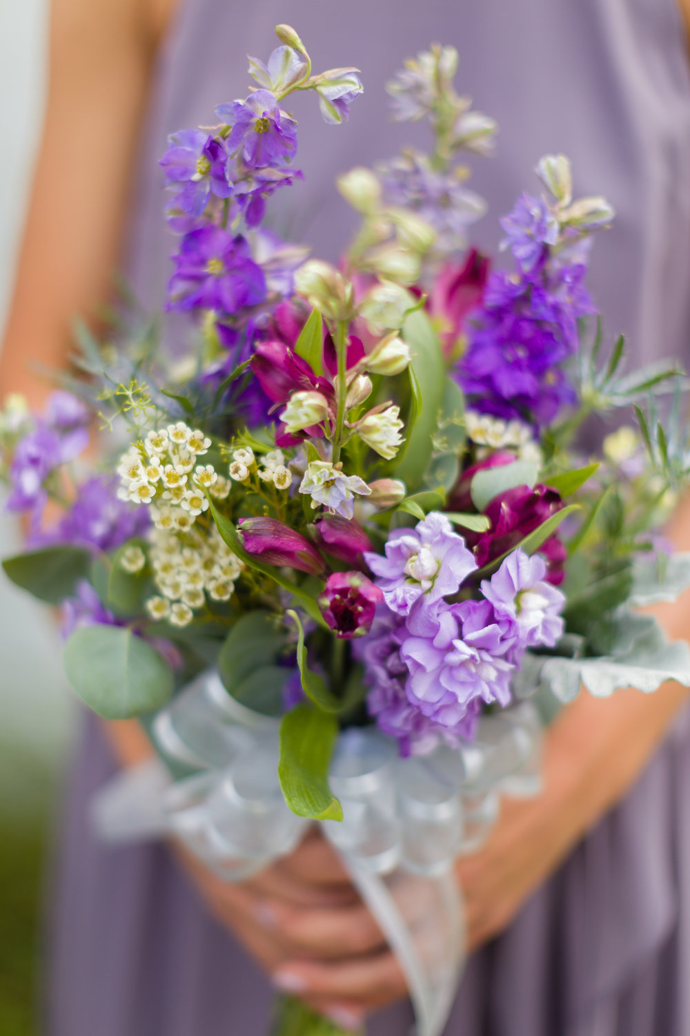 Purple + Pink Wedding Bouquet - Pittsburgh Wedding Venue - Duquesne University Wedding