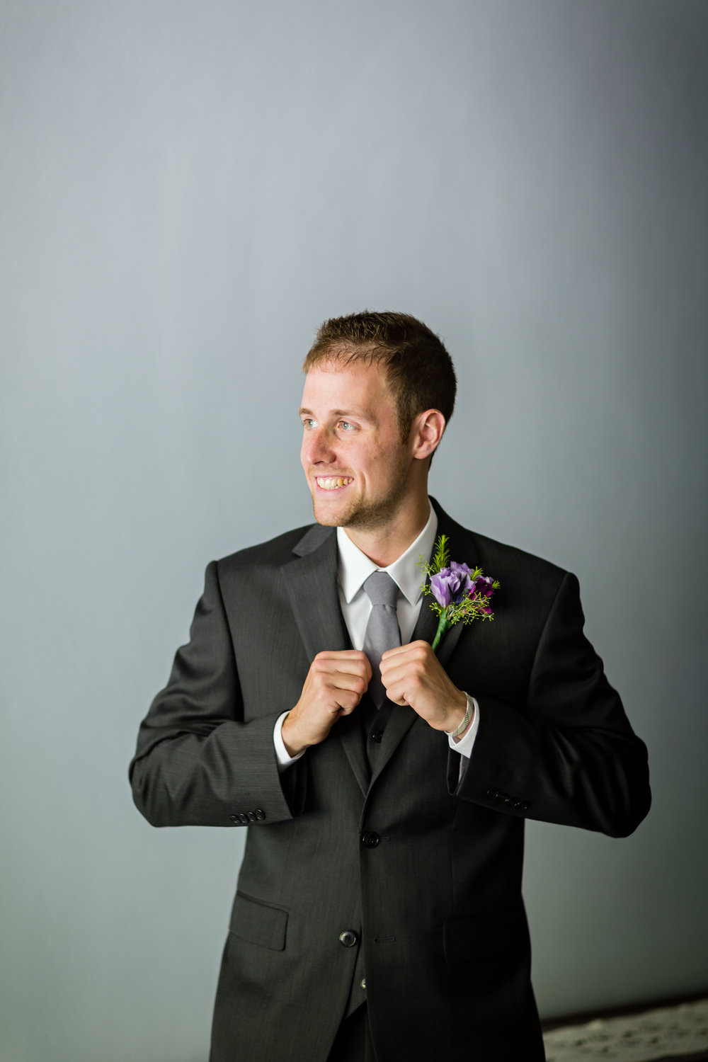 Charcoal Grey Groom Tie - Pittsburgh Wedding Venue - Duquesne University Wedding