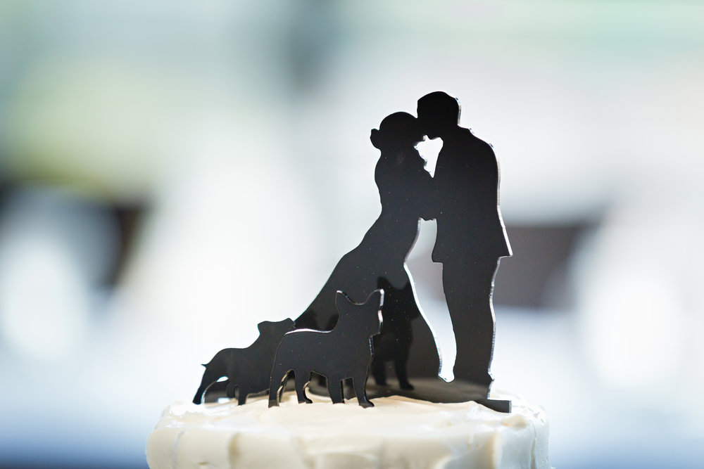 Silhouette Wedding Cake Topper - Pittsburgh Wedding Venue - Duquesne University Wedding