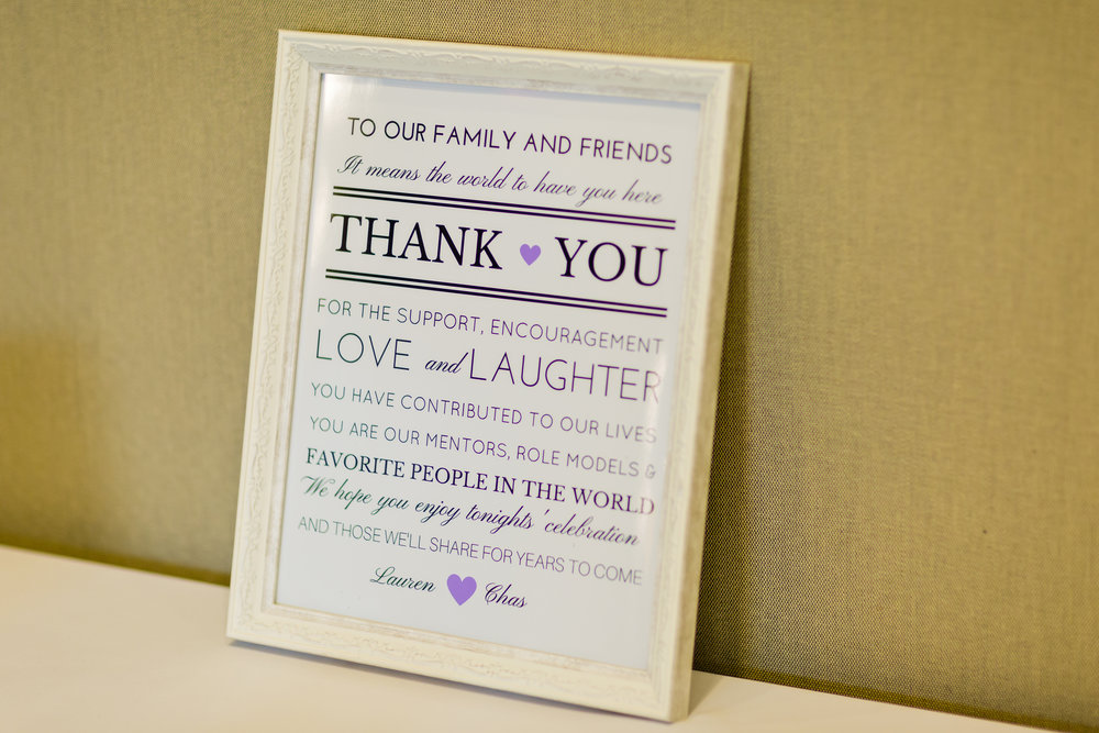 Cute Wedding Signs - Pittsburgh Wedding Venue - Duquesne University Wedding