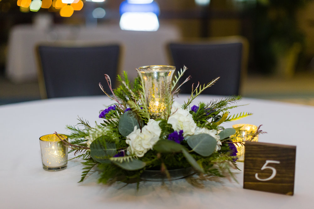 Simple Wedding Centerpieces - Pittsburgh Wedding Venue - Duquesne University Wedding