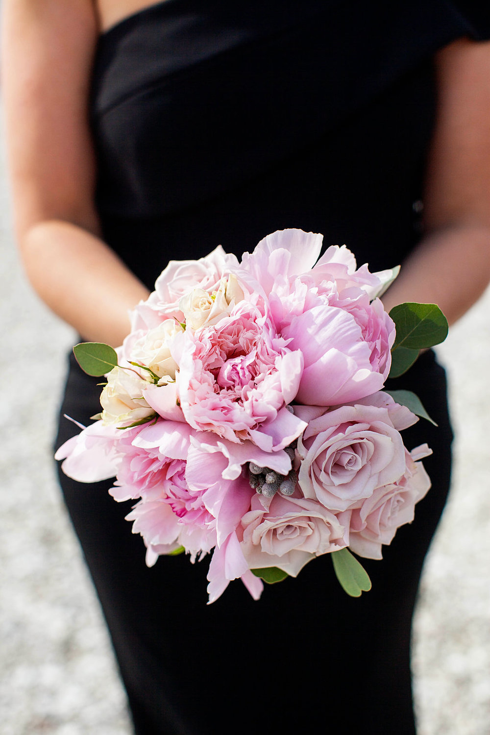 Pink Peony Bridal Bouquet - Rhode Island Wedding Venue - Belle Mer Wedding