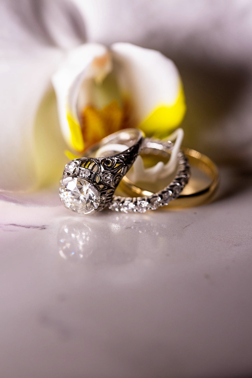 Gorgeous Vintage Engagement Ring - Rhode Island Wedding Venue - Belle Mer Wedding