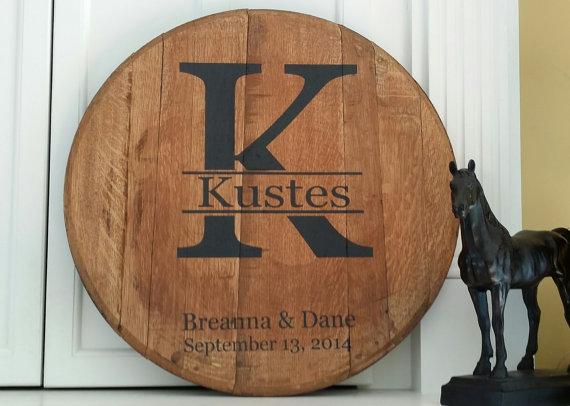 Bourbon Barrel Wedding Guest Book Ideas - Farmhouse Home Decor