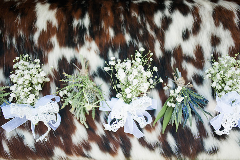 Farm Wedding Boutonnieres - Iowa Farm Wedding - Private Estate Weddings