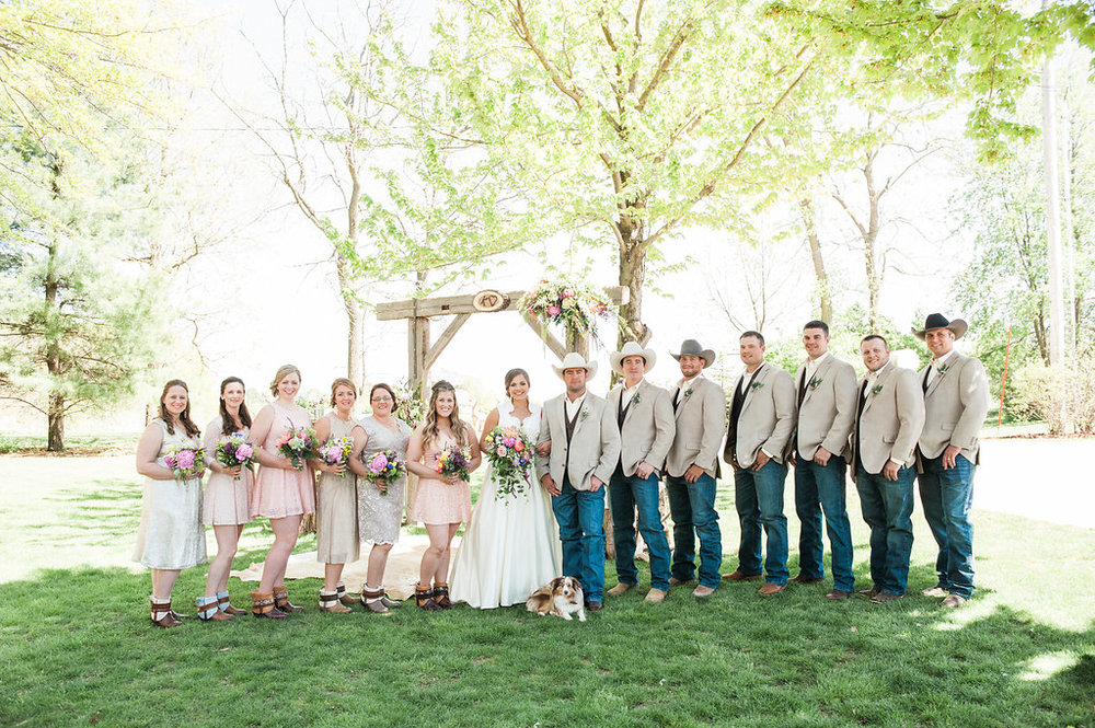 Blush Bridesmaid Dresses - Iowa Farm Wedding - Private Estate Weddings