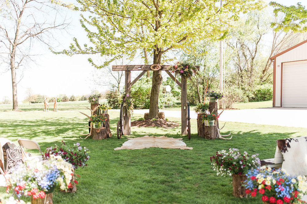 Gorgeous Farm Wedding Ceremony - Iowa Farm Wedding - Private Estate Weddings