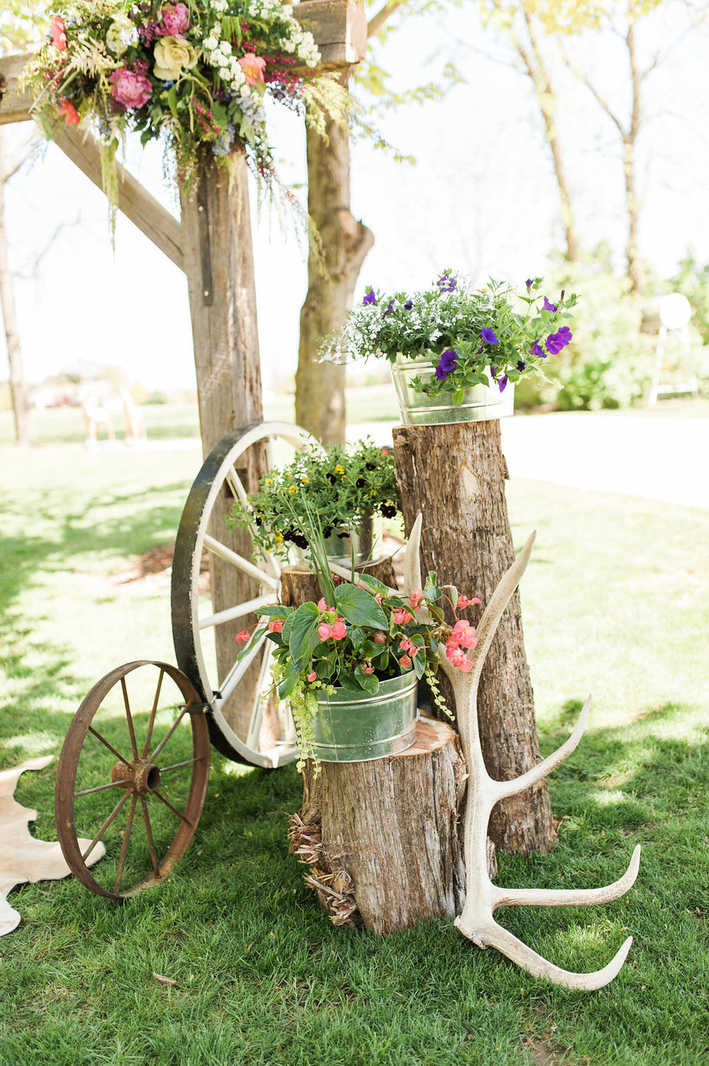 Farm Wedding Decor - Iowa Farm Wedding - Private Estate Weddings