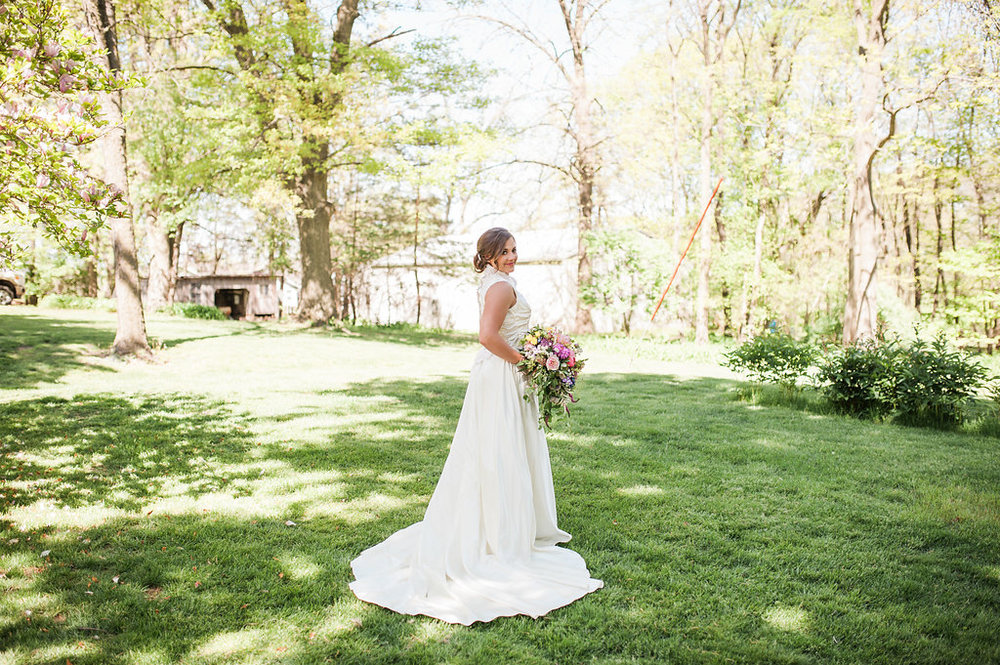 Lace Farm Wedding Dress - Iowa Farm Wedding - Private Estate Weddings
