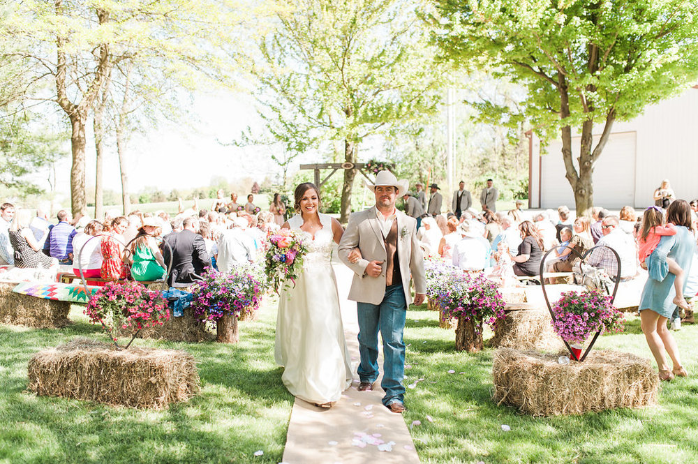 Farm Wedding Ceremony - Iowa Farm Wedding - Private Estate Weddings