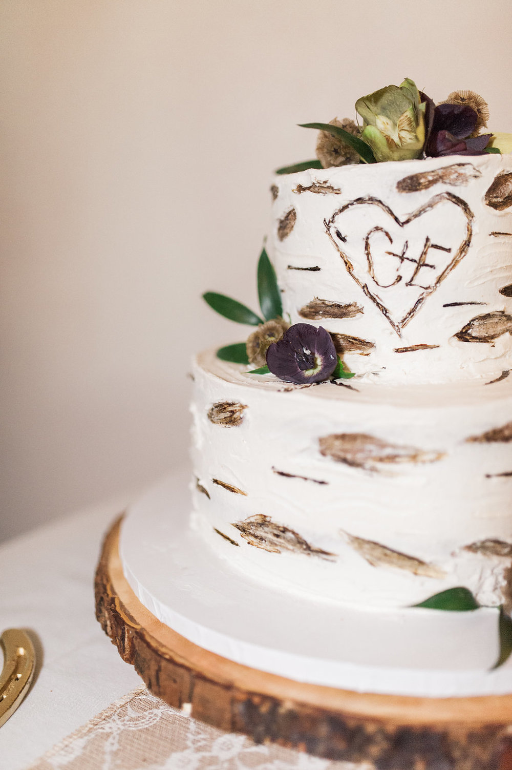 Rustic Wedding Cake - Iowa Farm Wedding - Private Estate Weddings