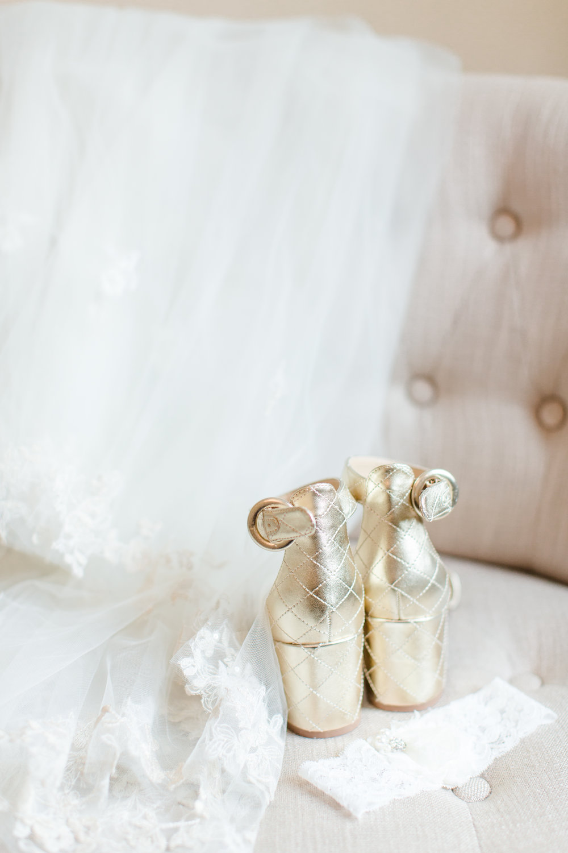Gold Wedding Shoes - West Virginia Wedding Photographer - Wedding Venue