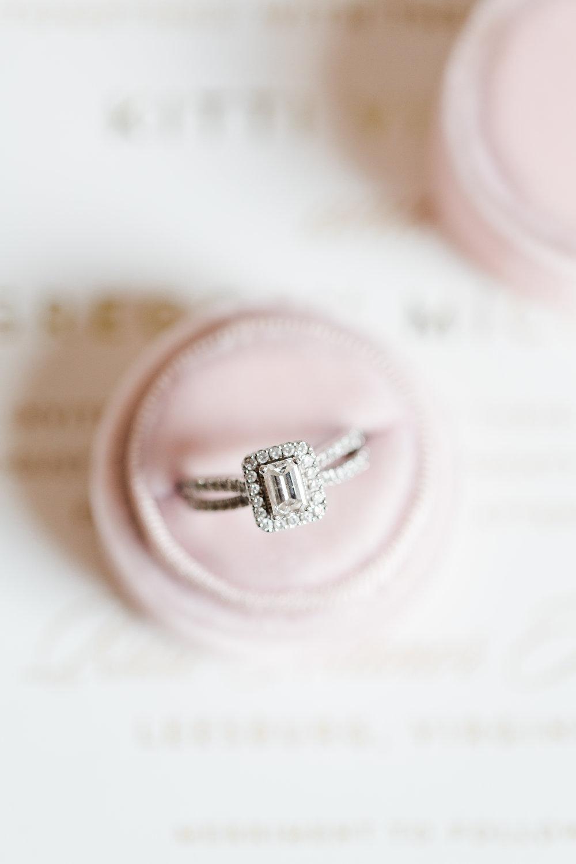 Square Halo Engagement Ring - West Virginia Wedding Photographer - Wedding Venue