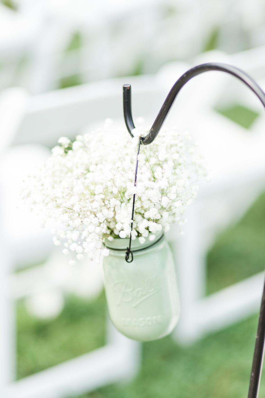 Baby's Breath DIY Ceremony Decor - West Virginia Wedding Photographer - Wedding Venue