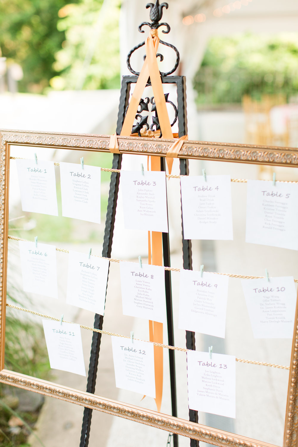 Unique Seating Charts - West Virginia Wedding Photographer - Wedding Venue
