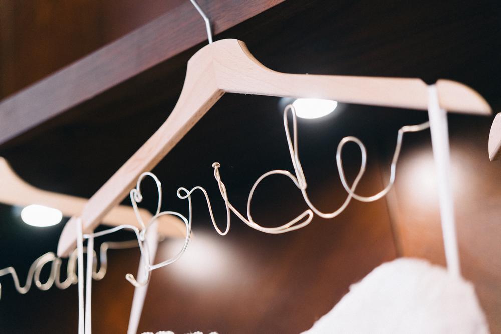Wire Bride Hanger - An Intimate Ritz Carlton Dubai Wedding